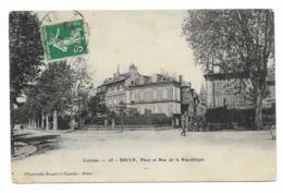 Brive Place Et Rue De La Republique - Brive La Gaillarde