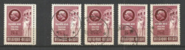 1953 - COB N° 908 ** (MNH) Et 4 Oblitérés (o) - Belgien