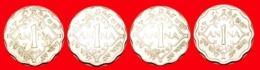 + 4 COINS SET OF WARTIME (1939-1945): INDIA ★ 1 ANNA 1942-1945! LOW START ★ NO RESERVE! - Kilowaar - Munten
