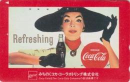 Télécarte Japon / 110-011 - COCA COLA - POSTER JOLIE FEMME - WOMAN GIRL DRINK Adv. Japan Phonecard  - 4200 - Werbung