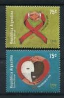 HIV SIDA: PREVENCIÓN ES VIDA - UPAEP 2000 ARGENTINA JALIL GOTTIG 3051 - 3052 SERIE COMPLETA MNH TBE - LILHU - Nuevos