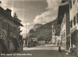 Italy, Agordo,  Piazza Della Liberta. ESSO. 1953 - Belluno