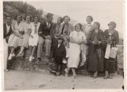 FO-OO172- FOTO AUTENTICA-VITTORIO VENETO-GITA ALLE GROTTE DEL CAGLIERON-SETTEMBRE 1933 - Anonieme Personen