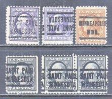 U.S. 501 +   Perf. 11   (o)  MINN.   1917-19  Issue - Precancels