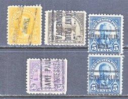 U.S. 557 +   Perf. 11   (o)  MINN.   1922-25  Issue - Precancels