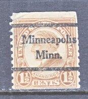 U.S. 598   Perf. 10   (o)  MINN.   1923-26  Issue - Precancels
