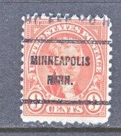 U.S. 641   Perf. 11 X 10 1/2   (o)  MINN.   1926-34  Issue - Precancels