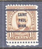 U.S. 684   Perf. 11 X 10 1/2   (o)  MINN.   1930  Issue - Precancels