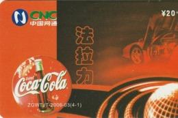 CHINA. COCA COLA. COCHE FERRARI ENZO. ZGWTJT-2006-03(4-1). (181). - Rompecabezas