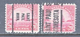 U.S. 698   Perf. 10 1/2 X 11   (o)  MINN.   1931  Issue - Precancels