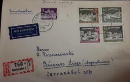 O) 1975 GERMANY - BERLIN, SPANDAU - GERMAN INDUSTRIAL FAIR SC 9N143, BRANDENBURG GATE 9N120A, MIT LUFTPOST, TO BUENOS AI - [5] Berlin