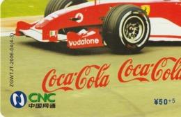 CHINA. COCA COLA. COCHE FERRARI. ZGWTJT-2006-04(4-3). (184). - Rompecabezas