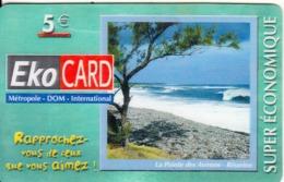 REUNION & FRENCH ANTILLES - Beach, EKO By XTS Prepaid Card 5 Euro, Tirage 3000, Used - Reunion