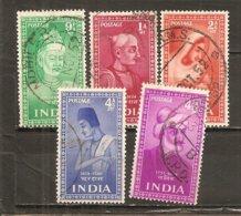 India Nº Yvert 37-41 (usado) (o) - Usados