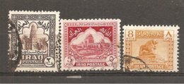 Irak  Nº Yvert  125, 128, 130 (usado) (o) - Irak