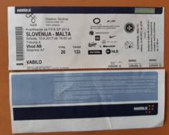 SOCCER Football Ticket World Cup Fifa 2018 Slovenia : MALTA 10.6.2017 Stadium Stozice Ljubljana - Match Tickets