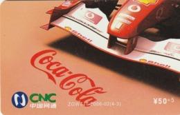 CHINA. COCA COLA. COCHE FERRARI. ZGWTJT-2006-02(4-3). (200). - Rompecabezas