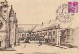 """SENONES (Vosges) : T. à D. Illustré Pour La """"Journée Dom CALMET.""""  / CP Dessinée De La Place Du Village. TTB. - Marcophilie (Lettres)"""