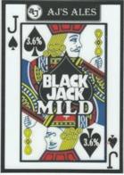 AJ'S ALES  (WALSALL, ENGLAND) - BLACK JACK MILD - PUMP CLIP FRONT - Uithangborden