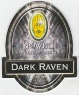 BEOWULF BREWERY (BROWNHILLS, ENGLAND) - DARK RAVEN - PUMP CLIP FRONT - Uithangborden