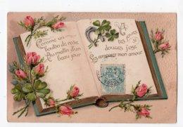 13  -   AMITIE - Livre Ouvert -  Comme Un Bouton De Rose ...  *relief*embossed* - Sonstige