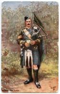 A HIGHLAND PIPER (TUCKS OILETTE) / ADDRESS - FAKENHAM RECTORY, THETFORD, NORFOLK - Patriotic