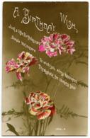 A BIRTHDAY WISH : FLOWERS - CHRYSANTHEMUMS - Birthday