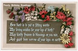 HEARTY BIRTHDAY GREETINGS - FLOWERS - Birthday