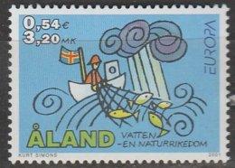 Aland Europa 2001 N° 191 ** L'eau - 2001