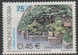 Andorre Espagnol Europa 2001 N° 269 ** L'eau - 2001