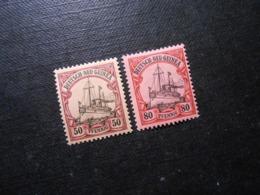 D.R.Mi 14/15 - 50/80Pf*MLH -  Deutsche Kolonien (Neuguinea) 1900 - Mi 7,00 € - Colony: German New Guinea