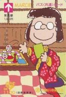 Carte Prépayée Japon - BD Comics - SNOOPY - MARCIE - PEANUTS Japan Prepaid Bus Card - 2744 - Comics