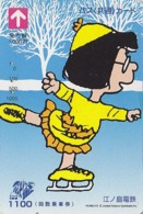 Carte Prépayée Japon - BD Comics - SNOOPY - MARCIE ** Patinage** - PEANUTS Japan Prepaid Bus Card - 2745 - BD
