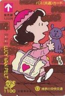 Carte Prépayée Japon - BD Comics - SNOOPY - LUCY & CHAT CAT - PEANUTS Japan Prepaid Bus Card - 2746 - Comics