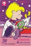 Carte Prépayée Japon - BD Comics - SNOOPY - SCHRODER & BEETHOVEN - PEANUTS Japan Prepaid Bus Card - 2747 - Comics