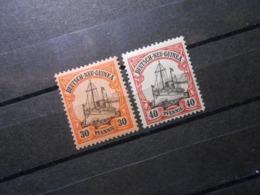 D.R.Mi 12/13 - 30/40Pf*MLH -  Deutsche Kolonien (Neuguinea) 1900 - Mi 4,00 € - Colony: German New Guinea