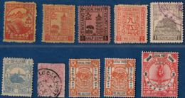 China, Local Issues From Kewkiang, Chinkiang & Shanghai - 10 Stamps Unused, MH Ot Cancelled - Chine