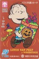 Carte Prépayée Japon - BD Comics - SNOOPY - LINUS & HALLOWEEN - PEANUTS Japan Prepaid Bus Card - 2748 - Comics