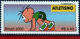 Ref. BR-2764E BRAZIL 2000 SPORTS, OLYMPICS, ATHLETICS,, MONICA'S TEAM, COMICS, MI# 3063, MNH 1V Sc# 2764E - Brasile