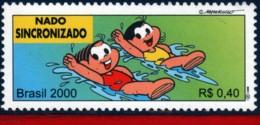 Ref. BR-2764J BRAZIL 2000 SPORTS, OLYMPICS,SYNCHR.SWIMMING,, MONICA'S TEAM, COMICS, MI# 3068, MNH 1V Sc# 2764J - Brasile