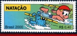 Ref. BR-2765J BRAZIL 2000 SPORTS, OLYMPICS, SWIMMING,, MONICA'S TEAM, COMICS, MI# 3088, MNH 1V Sc# 2765J - Brasile