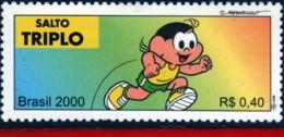 Ref. BR-2765R BRAZIL 2000 SPORTS, OLYMPICS, TRIPLE JUMP,, MONICA'S TEAM, COMICS, MI# 3096, MNH 1V Sc# 2765R - Atletica