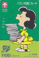 Carte Prépayée Japon - BD Comics - SNOOPY - LUCY Serveuse  - PEANUTS Japan Prepaid Bus Card - 2753 - BD