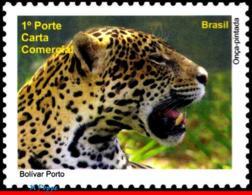 Ref. BR-3140D BRAZIL 2010 ANIMALS, FAUNA, PANTANAL, OZS, OUNCE,, CATS, DEPERSONALIZED MNH 1V Sc# 3140 - Personalisiert