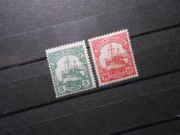 D.R.Mi 21 Ll/ 22 Ll - 5Pf**MNH/ 10Pf*MLH -  Deutsche Kolonien (Neuguinea) 1918 - Mi 6,00 € - Colony: German New Guinea