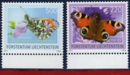 Ref. LI-V2011-2 LIECHTENSTEIN 2011 NATURE, BUTTERFLIES, FLOWERS & PLANTS - MINT MNH 2V - Papillons