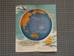 Cx 9) PAN AM PAN AMERICA WORLD AIRWAYS CLIPPER To HAWAII Promotional FOLDING Flyer - Advertisements