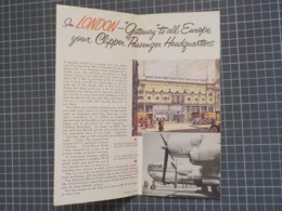 """Cx 9) PAN AM PAN AMERICA WORLD AIRWAYS CLIPPER Tourism To London """"ENGLAND BY CLIPPER"""" - Advertisements"""