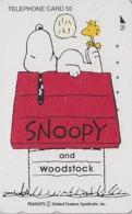 Télécarte Japon / 110-011 - BD Comics - CHIEN SNOOPY & WOODSTOCK ** - PEANUTS DOG Japan Phonecard - 2781 - BD