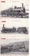 LES LOCOMOTIVES ILLUSTRÉES - NORD - Lot De 6 Cartes Postales - Machines En Très Gros Plan - Trains